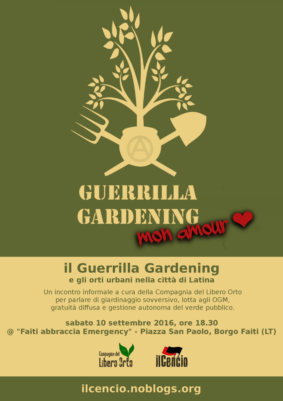 Incontro informale sul guerrilla gardening